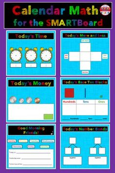Here's a simple & new interactive calendar math activity for your SMARTBoard! Teaching First Grade, 1st Grade Math, Teaching Math, Second Grade, Kinesthetic Learning, Teaching Ideas, Kindergarten Calendar, Kindergarten Math Activities, Math Resources
