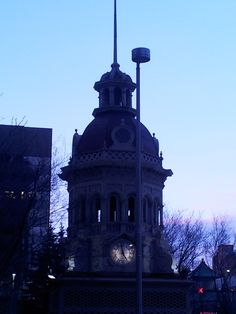 Day 19 - Old (for Calgary) clock tower in the downtown