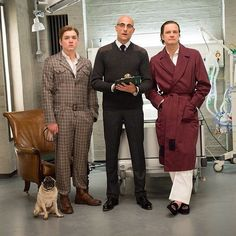 J.B., Eggsy, Merlin and Harry. #Kingsman