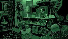 Hardware store.    Sci-Fi Pixel Art