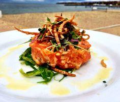 #salmon #tartare @Navy Beach #montauk #wakame #kimchimayo #navybeach #summer2014