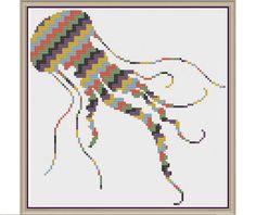 Jagged Jellyfish - Counted Cross Stitch Pattern (X-Stitch PDF)