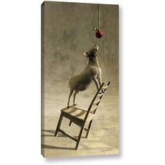 Cynthia Decker Equilibrium I Gallery-Wrapped Canvas, Size: 12 x 24, Red