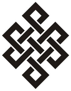 also called infinity knot or endless knot. Symbol Tattoos, Body Art Tattoos, Tatoos, Karma Tattoo Symbol, Karma Tattoos, Ancient Symbols, Buddhist Symbols, Celtic Designs, Geometric Designs