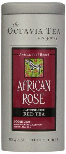 Octavia Tea African Rose (Caffeine-Free Red Tea/Rooibos) Loose Tea, 2.65-Ounce Tins (Pack of 2) *** To view further for this item, visit the image link.