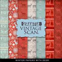 Far Far Hill - Free database of digital illustrations and papers: Freebies Winter Paper With Deer Papel Scrapbook, Printable Scrapbook Paper, Digital Scrapbook Paper, Printable Paper, Digital Papers, Digital Paper Freebie, Digital Scrapbooking Freebies, December Daily, Christmas Paper