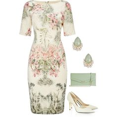 Spring Floral by dazzling-dazed-dayz on Polyvore featuring Adrianna Papell, Tom Ford, Lodis and Natasha