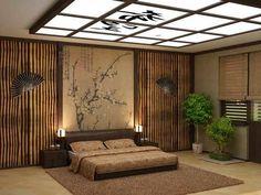 asiatisches orientalisches schlafzimmer design dekorative decke