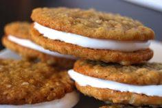 Homemade oatmeal cream cookie pies.