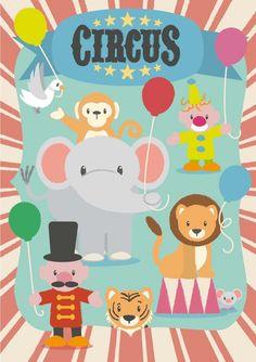 Poster Circus nieuw bij HippeKidsKamer!