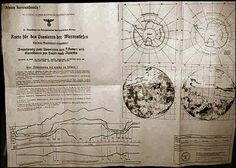 """Hoax? - 1944 map detailing the direct passageway used by German U-boats to access a so called subterranean domain """"Agharta""""."""