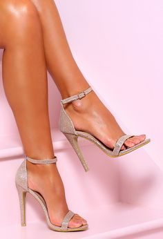 Glitz N Fizz Champagne Lurex Barely There Heels - UK 3. Champagne ShoesPink HeelsShoes  HeelsShoe BootsStiletto BootsPatent LeatherHigh ... d643937a7204