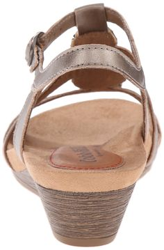 d09745f4550f Rockport Cobb Hill Womens HannahCH Wedge Sandal Pewter 9 M US     Visit the