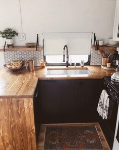 Tour this RV Remodel filled with Scandinavian Coziness!, Tour this Modern RV Remodel filled with Scandinavian Coziness from Detach and Roam! Van Home, Rv Kitchen, Kitchen Design, Kitchen Decor, Interior, Rv Remodel, Home Decor, Camper Living, Tiny House Camper