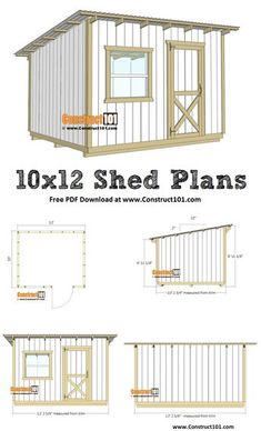diy storage shed lean to shed plans - free P - diystroage Lean To Shed Plans, Wood Shed Plans, Shed Building Plans, Small Shed Plans, 10x12 Shed Plans, Shed Design Plans, Shed Plans 12x16, Garage Plans, Building Ideas