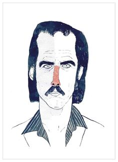 Nick Cave by @littleisdrawing