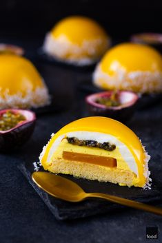 Sernikowe entremets z mango i marakują - food² My Recipes, Cake Recipes, Dessert Recipes, Chocolate Dome, Mango Mousse, Good Food, Yummy Food, Fancy Desserts, Crazy Cakes