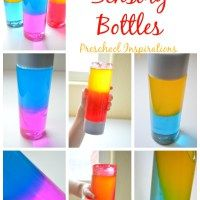 How to Make a Color Mixing Sensory Bottle - Great project after reading Mix It Up