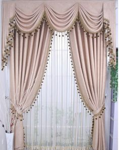 Ready curtain with decorative beads /lot, curtains with hooks/punching/rod pocket , Adjust length for different size. Category: Home & Garden. Subcategory: Home Textile. Decor, Home Room Design, Elegant Curtains, Drapes Curtains, Curtains, Curtains And Draperies, Curtain Hooks, Curtain Decor, Curtains For Arched Windows