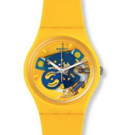 montre jaune swatch GJ136 Horloge, Montres, Anonyme, Jaune, Montres  Fraîches, Montres 17662f8e950