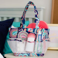 emerson paisley shower caddy