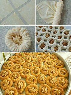 Delicious Ramadan Desserts, Ramadan Recipes, Sweets Recipes, Cooking Recipes, Arabic Dessert, Arabic Sweets, Arabic Food, Turkish Sweets, Turkish Recipes