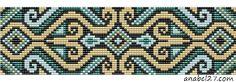 Схемы браслетов - станочное ткачество