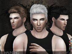 The Sims Resource: Stealthic – Haunting (Male Hair) • Sims 4 Downloads I will be using this!!!