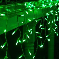 Decorate your roof, porch, or deck with brilliant green icicle lights. LED lights shine brighter and last longer than traditional lights saving you energy and money. Connect up to 43 sets to light up your entire yard quickly. Green Aesthetic Tumblr, Dark Green Aesthetic, Aesthetic Colors, Aesthetic Collage, Aesthetic Pictures, Photo Wall Collage, Picture Wall, Icicle Lights, String Lights