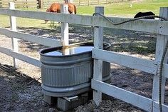 Smart idea for a horse waterer.