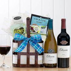 Wine Gift Baskets - Red & White Wine Pair Thank You Gifts, Gifts For Her, Wine Gift Baskets, California Wine, Sauvignon Blanc, Wine Gifts, Creamy White, White Wine, Wines