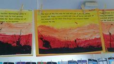 Bushfire art and writing