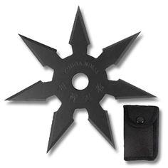 Black Kohga Seven Point Star Cosplay Sword, Ninja Star, Ninja Weapons, Shuriken, Stars Then And Now, Ceiling Fan, Tools, Black, Design