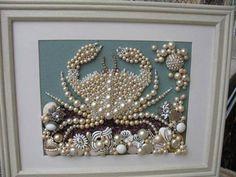 Use old costume jewelry to create beautiful artwork!