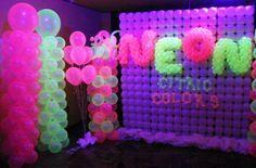 decoracao de festa neon 7