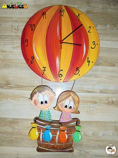 anjelicek / Hodiny balon Clock, Watch, Clocks