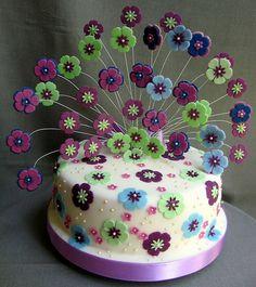 Peacock? cake - flowers on cake too much?...(1415 by Branka Jovanovic, via Flickr)