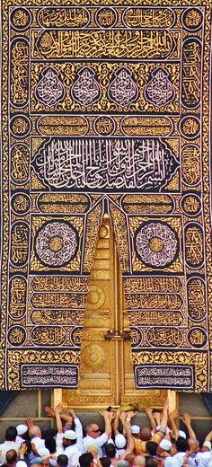 Door of kaaba Quran Wallpaper, Mecca Wallpaper, Islamic Quotes Wallpaper, Hd Wallpaper, Desktop Wallpapers, Mecca Mosque, Mecca Kaaba, Grand Mosque, Mekka Islam
