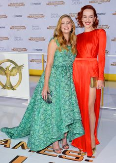 """ Willow Shields & Jena Malone attend 'The Hunger Games: Mockingjay Part 1' film premiere in Los Angeles, California - November 17th, 2014 """