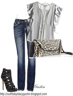 silver, created by stacy-gustin on Polyvore