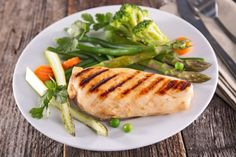 Need a staple dinner meal that's healthy and easy to make? Try broiling this chicken breast after it's been marinated in a tangy lime sauce. Asian Chicken Lettuce Wraps, Lettuce Wrap Recipes, Lime Chicken, Steamed Vegetables, Healthy Vegetables, Chicken And Vegetables, Vegetable Sides, Vegetable Recipes, Chicken Recipes