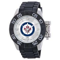 Men's NHL Game Time Winnipeg Jets Beast Series Watch - Black