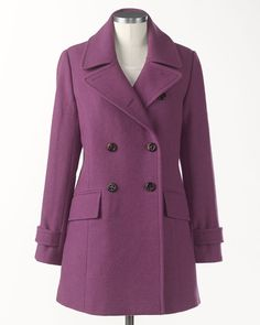New edition peacoat | Coldwater Creek.   Love the color!!!