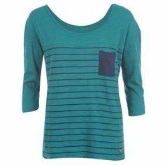 Lee Cooper Stripe Crew T Shirt Ladies - SportsDirect.com
