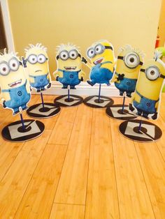 Minons party centerpieces made by SouthFlower on Etsy.com