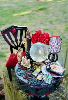 Dollhouse Miniature Harry Potter Professor Trelawney Fortune Teller's Table and Chair Set. $45.00, via Etsy.
