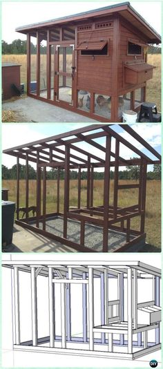 DIY The Palace Chicken Coop Free Plan & Instructions - DIY Wood Chicken Coop Free Plans More on good ideas and DIY mehr zum Selbermachen auf Interessante-dinge.de #DIYchickencoopplans