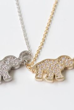 cz elephant necklace