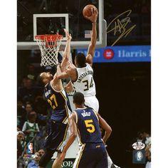 "Giannis Antetokounmpo Milwaukee Bucks Fanatics Authentic Autographed 8"" x 10"" Vs. Jazz Photograph - $99.99"