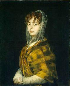 Francisco Goya: Señora Sabasa Garcia, Oil on canvas, 71 x 58 cm. National Gallery of Art, Washington National Gallery Of Art, Web Gallery Of Art, Spanish Painters, Spanish Artists, Oil Canvas, Canvas Art, Art Espagnole, Oil Painting Reproductions, Pablo Picasso
